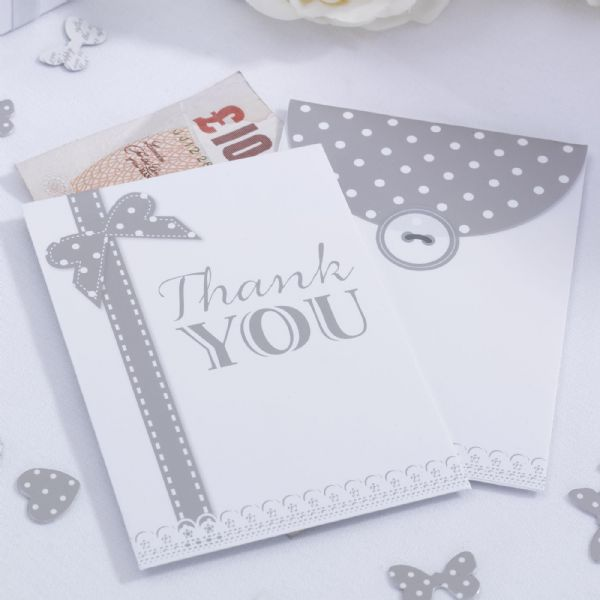 Chic Boutique Money Envelopes - White & Silver (10)